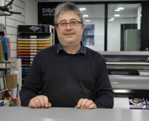 Miquel Ortuño de l'establiment Digital Sis, president de Comerç Rubí ,